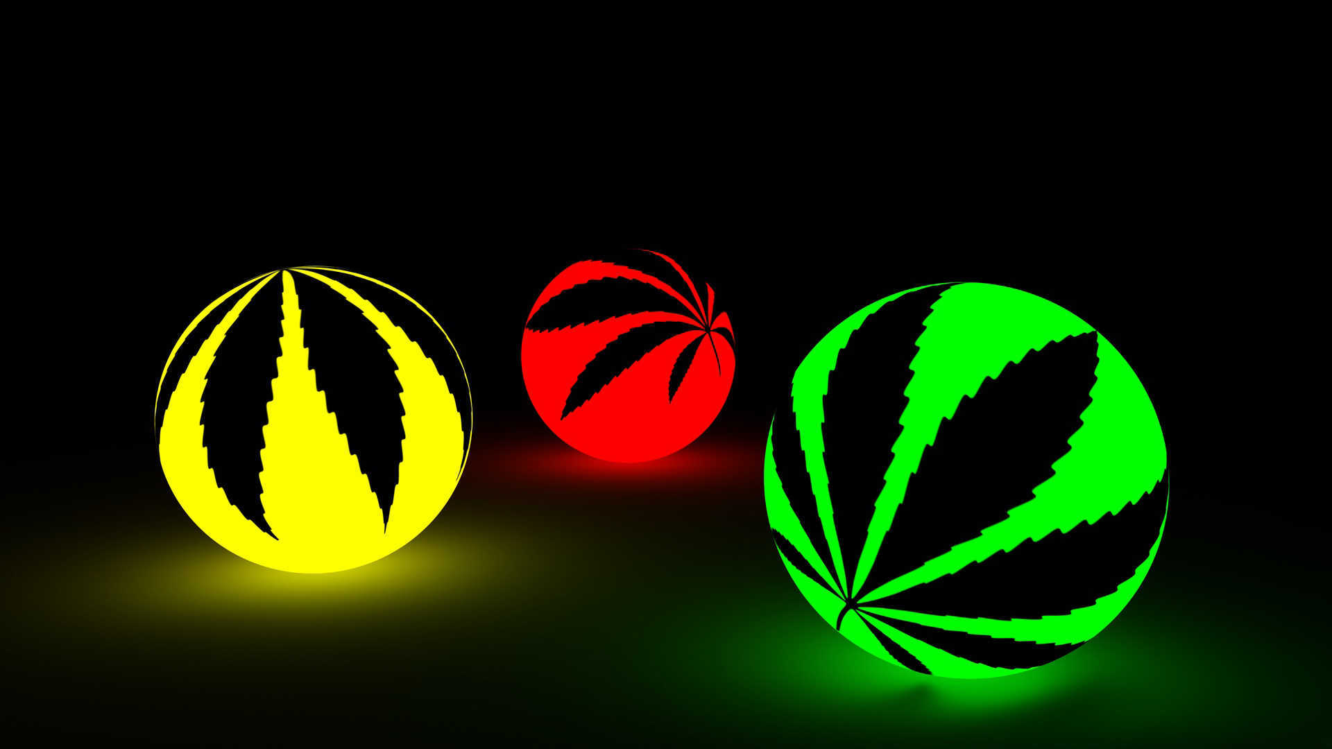 Fluorescent Weed Balls